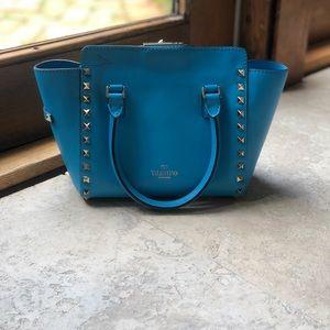 VALENTINO Rockstud Mini Double Handle Bag.